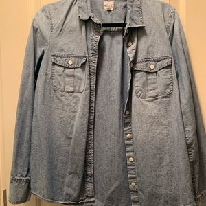 J crew chambray perfect shirt button up denim